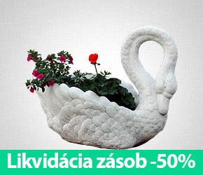 Labuť – kvetináč